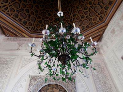 Pena-Palace-ceiling-and-chandelier---Lisbon-ed