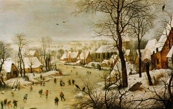 Winter Landscape with a Bird Trap (1565) Pieter Bruegel (Brueghel) the Elder