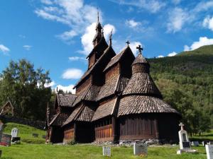 Borgund stave church, Sognefjorden