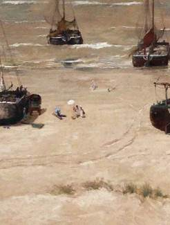 (the second depicts Sina painting on the beach)