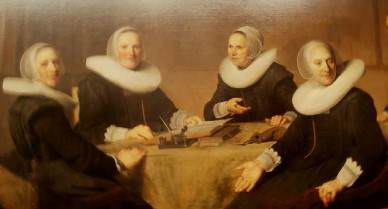 Haarlem: Frans Hals Museum: detail from The Regentesses of the Almshouse, by Frans Hals (1664)