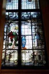 and stained glass window