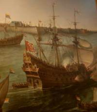 The Arrival of Frederik V from the Palts and Elisabeth Stuard at Vlissingen in May 1613 – detail, by Hendrik Cornelisz Vroom (1566-1640)
