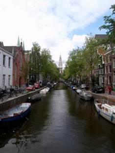Amsterdam: a canal,