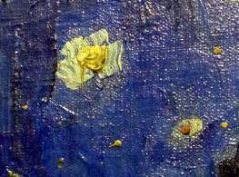 and Van Gogh's Café Terrace at Night – detail (stars)