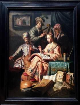 The Musical Company (1626) by Rembrandt van Rijn, Rijksmuseum