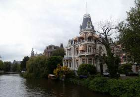 and a canal-side villa