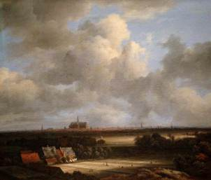 Jacob van Ruisdael: View of Haarlem with Bleaching Grounds (c.1670-75)