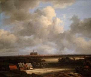 Jacob van Ruisdael: View of Haarlem with Bleaching Grounds (c.1670-75)