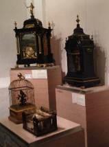 Musical clocks, a singing nightingale