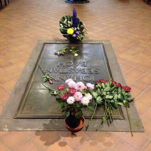 Bach's grave, St. Thomas's Church leipzig