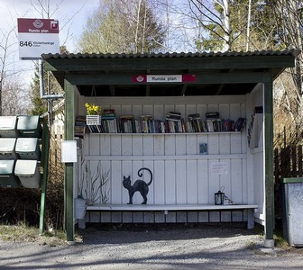 Bus stop with books ed