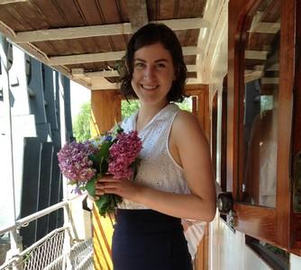 70b Caroline with her flowers ed