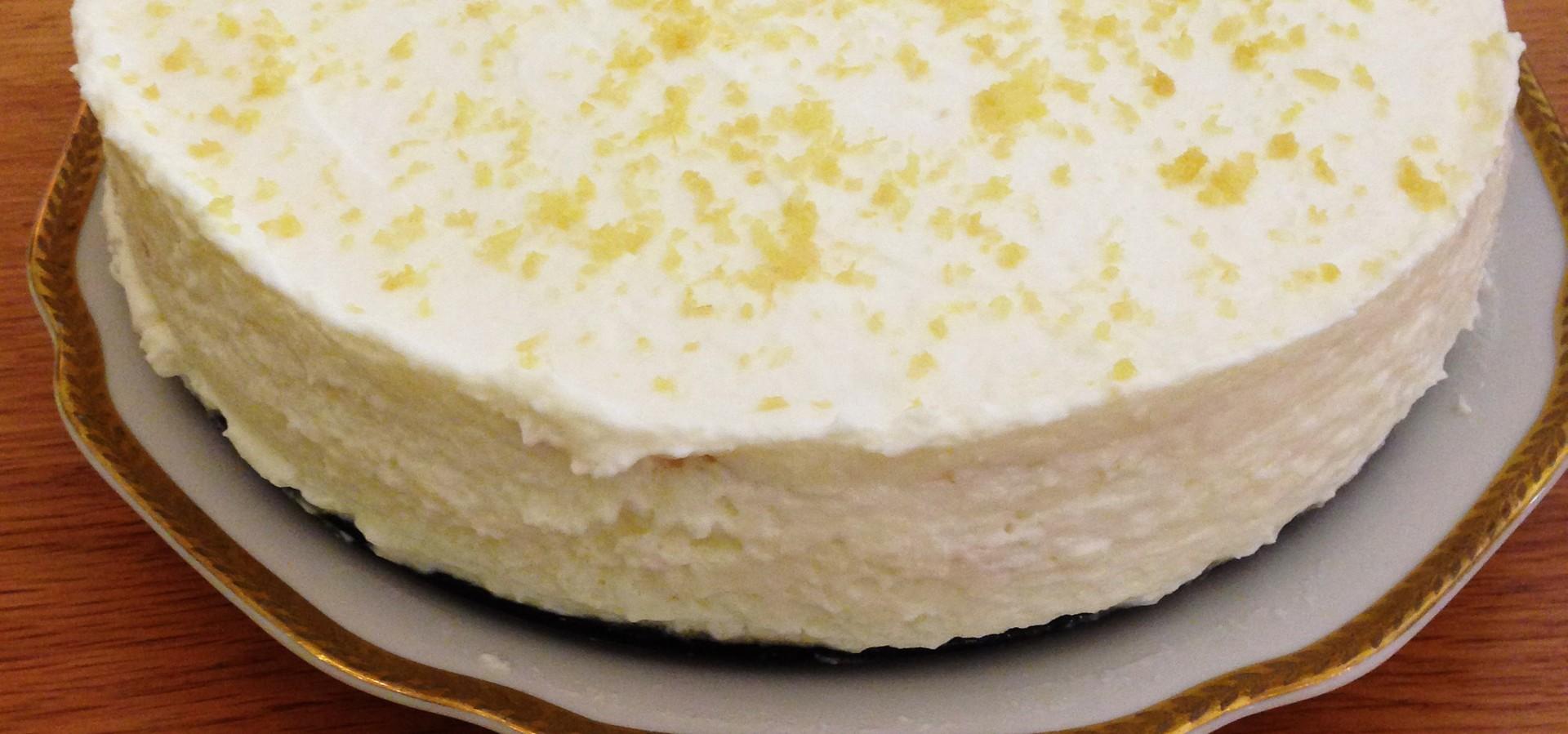 Lemon Ripple Cheesecake